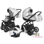 Camarelo Zeo Eco 3-1 ZeoEco-7 (Eko āda silver) bērnu universālie rati